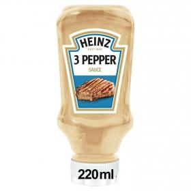 Salsa 3 pimientas Heinz envase 220 ml.