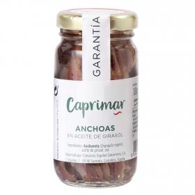 Anchoas en aceite de girasol Caprimar 55 g.