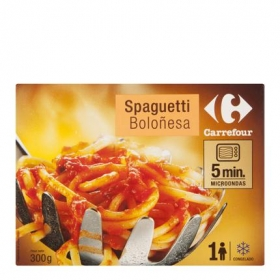 Spaguetti boloñesa Carrefour 300 g.