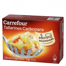 Tagliatelle carbonara Carrefour 300 g.