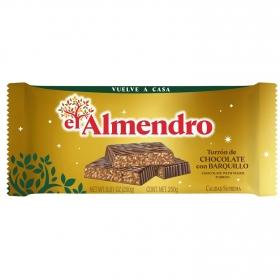 Turrón de chocolate con barquillo El Almendro 285 g.