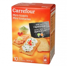 Mini tostadas Carrefour 200 g.
