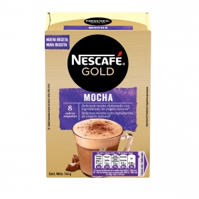 Chocolate cappuccino Nescafé Gold pack de 8 sobres de 18 g.