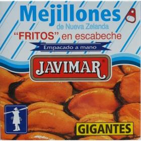Mejillones fritos en escabeche Javimar sin gluten 156 g.