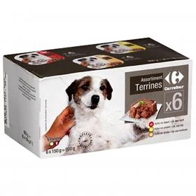 Carrefour Comida Húmeda para Perros Sabores Surtidos 6x150g