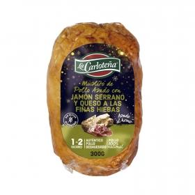 Muslito de pollo asado relleno con jamón serrano La Carloteña 300 g