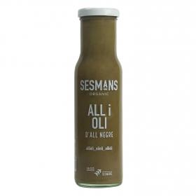 Salsa alioli ecológica Sesmans sin gluten botella 240 g.
