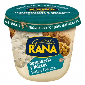 Salsa fresca de gorgonzola y nueces Rana envase 180 g.