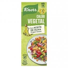 Caldo vegetal con un toque de aceite de oliva virgen extra Knorr sin gluten 12 pastillas