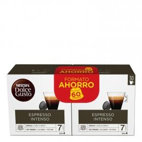 Café espresso intenso en cápsulas Nescafé Dolce Gusto 60 ud.