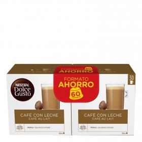Café con leche en cápsulas Nescafé Dolce Gusto 60 ud.