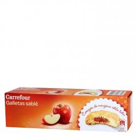 Galletas sablé de manzana Carrefour 100 g.