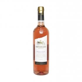 Vino rosado tempranillo semidulce Emparrado botella 75 cl.