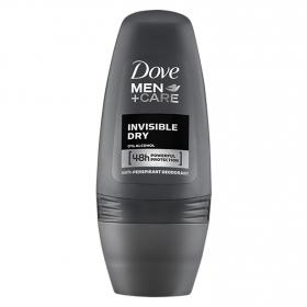 Desodorante roll-on invisible dry men Dove 50 ml.