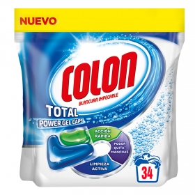 Detergente en cápsulas Total Power Gel Colon 34 ud.
