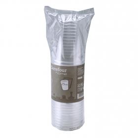 Vasos de Plástico CARREFOUR HOME  7,78x26,13cm - Transparente
