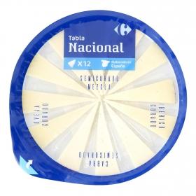 Tabla nacional Carrefour 12 cuñitas 125 g