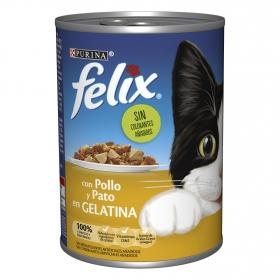 Purina Felix Comida Húmeda para Gato Gelatina Pollo y Pato 400g