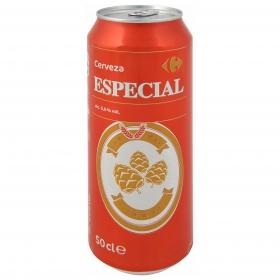 Cerveza Carrefour especial lata 50 cl.