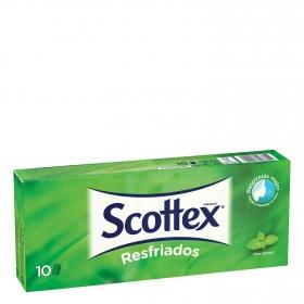 Pañuelos Resfriados Scottex 10 ud.