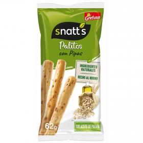 Palitos de trigo con pipas Grefusa Snatt's 62 g.