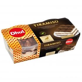 Tiramisú Dhul pack de 2 unidades de 80 g.