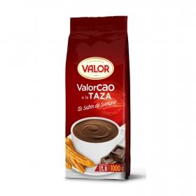Chocolate a la taza en polvo Valor sin gluten 1 kg.
