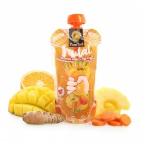 Smoothie de zanahoria, naranja, piña y mango Pom'bel bolsita 210 ml.