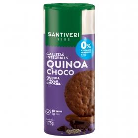 Galletas con quino y chocolate 0 % azúcares añadidos Santiveri 175 g.