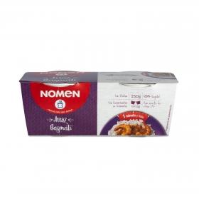 Arroz basmati para microondas Nomen sin gluten pack de 2 ud. de 125 g.