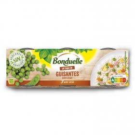Guisantes Bonduelle Pack de 3 unidades de 65 g.