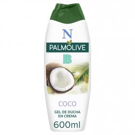 Gel de ducha en crema con Coco y leche hidratante NB Palmolive 600 ml.
