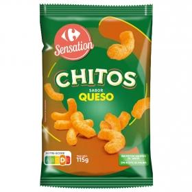 Chitos sabor queso Carrefour 115 g.