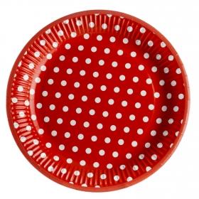 Plato Desechable CARREFOUR HOME  23 cm 8 ud  23 cm - Rojo