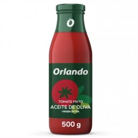 Tomate frito con aceite de oliva virgen extra Orlando sin gluten tarro 500 g.