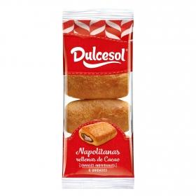 Napolitanas de cacao 8 unidad DulceSol 320 g.