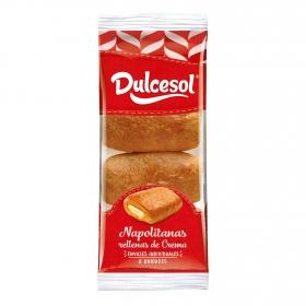 Napolitana de crema 8 unidade DulceSol 320 g.