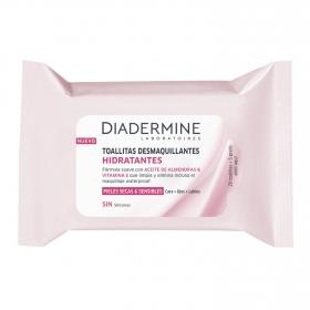 Toallitas desmaquillantes hidratantes todo tipo de piel Diadermine 20 ud.