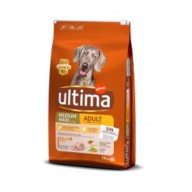 Pienso de pollo para perros adultos Medium Maxi Ultima 7,5 Kg.