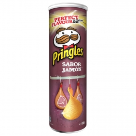 Aperitivo de patata sabor jamón Pringles 200 g.