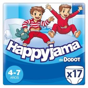 Ropa interior absorbente niño noche Dodot Happyjama 4-7 años (17-29 kg.) 17 ud.
