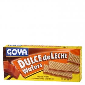 Galletas de barquillo rellenas con crema de dulce de leche Goya 160 g.