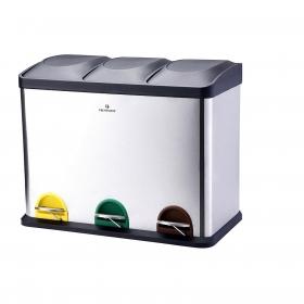 Cubo  de basura Acero inoxidable Protenrop Ecol-Trio 45 Litros - Inox