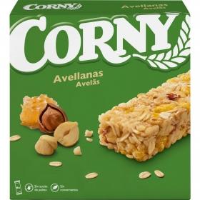 Barritas de cereales con avellanas Muesly Hero 6 unidades de 25 g.