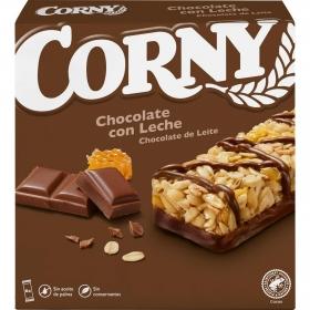 Barritas de cereales con chocolate y leche Muesli Hero 6 unidades de 25 g.