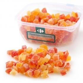 Papaya cubos deshidratada Carrefour tarrina 350 g
