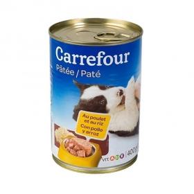 Carrefour Comida Húmeda para Perros Cachorros de Pollo y Arroz 400g