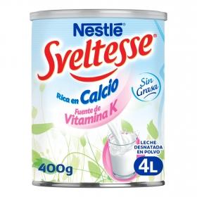 Leche en polvo desnatada Nestlé - Sveltesse 400 g.