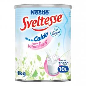 Leche en polvo desnatada Nestlé - Sveltesse 1 kg.