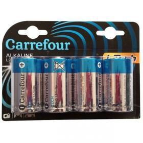 Pack de 4 Pilas Alcalinas  I-Tech Carrefour Lr20 (D)